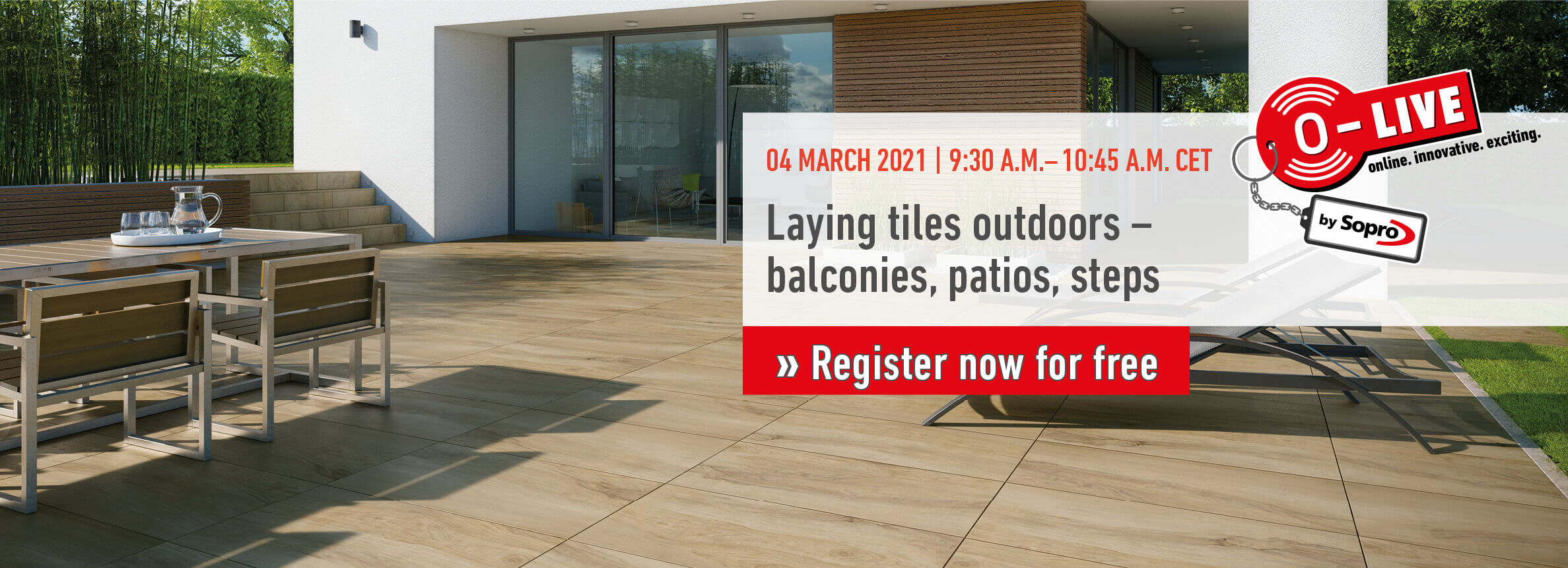 O-LIVE Show - Laying tiles outdoors - balconies ...